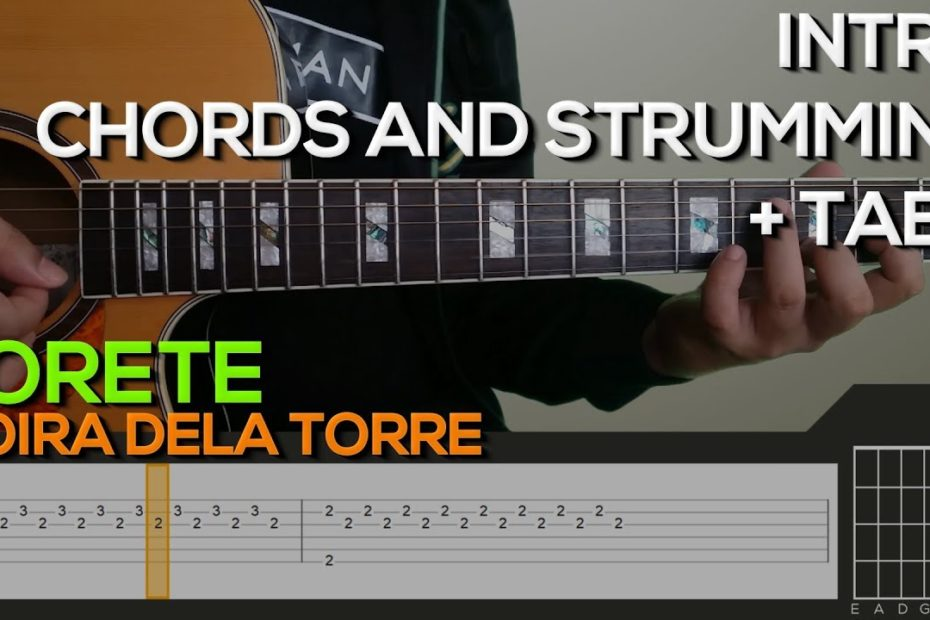 Moira Dela Torre - Torete [INTRO, CHORDS & STRUMMING] Guitar Tutorial with (TABS on SCREEN)