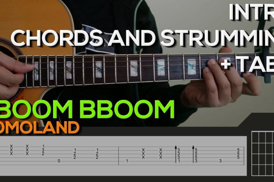 MOMOLAND - BBoom BBoom Guitar Tutorial [INTRO, CHORDS AND STRUMMING / PLUCKING + TABS]