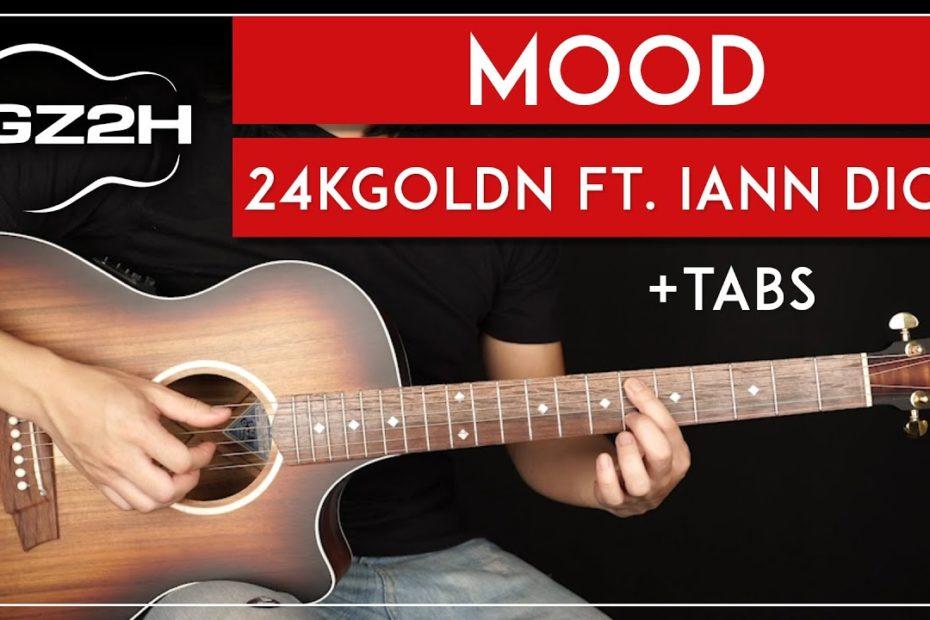 Mood Guitar Tutorial 24kGoldn Guitar Lesson |Main Riff|