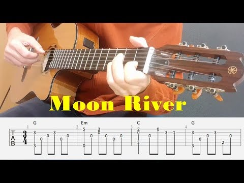 Moon River - Henry Mancini - Fingerstyle guitar with tabs