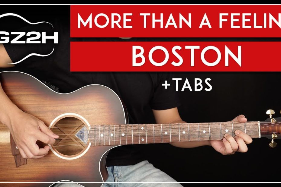 More Than A Feeling Guitar Tutorial Boston Guitar Lesson |All Guitar Parts|