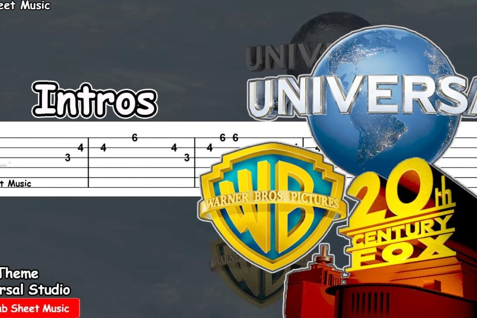 Movie studio intros on guitar (Universal Studio, 20th Century, Columbia, Warner) Guitar Tutorial