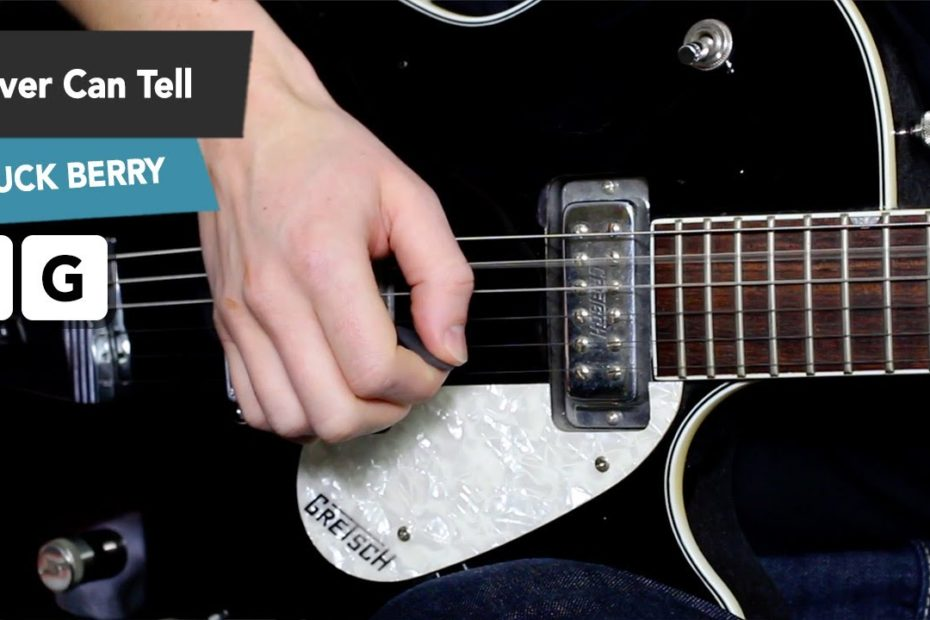 NEVER CAN TELL Easy Guitar Lesson Tutorial INTRO (Pulp Fiction)