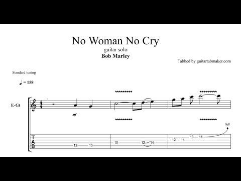 No Woman No Cry solo TAB - electric guitar solo tabs (Guitar Pro)