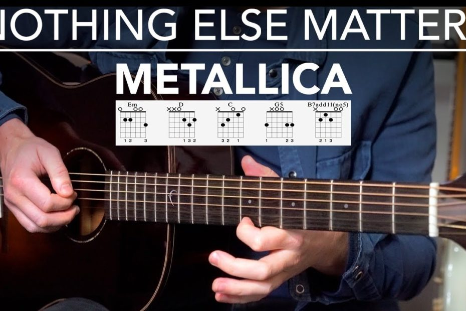 NOTHING ELSE MATTERS Guitar Lesson Tutorial (Metallica) Fingerstyle Songs