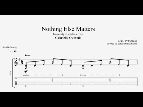 Nothing Else Matters TAB - fingerstyle guitar tab (PDF + Guitar Pro)