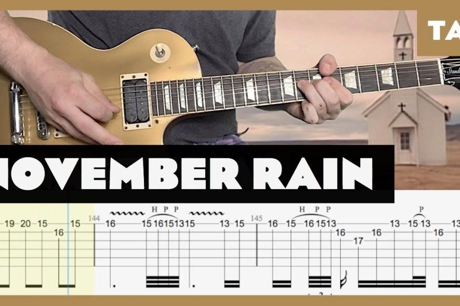 November Rain Guns N' Roses Cover | Guitar Tab | Lesson | Tutorial