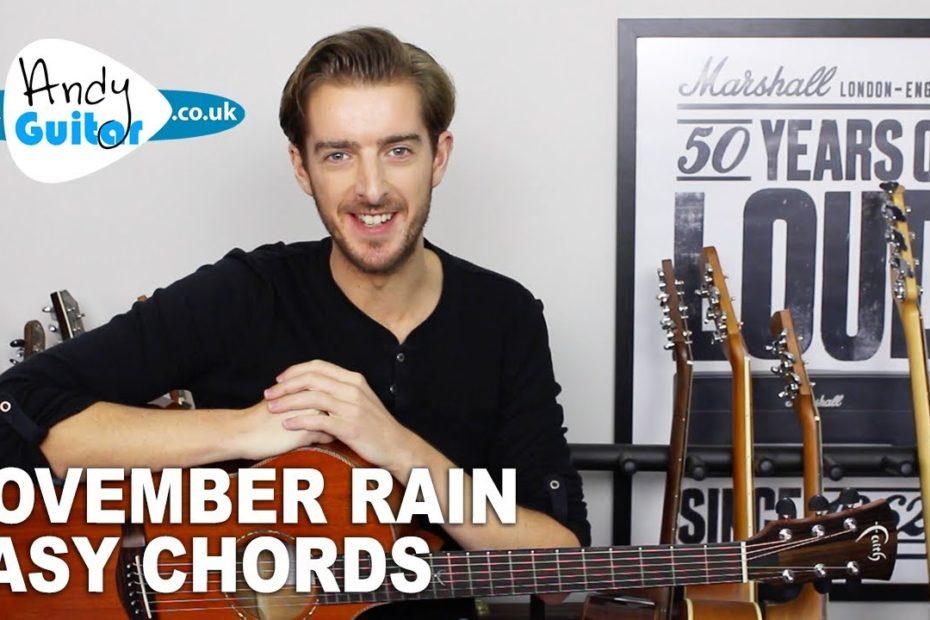 November Rain - Guns 'N' Roses Guitar Lesson Tutorial - Easy Chords
