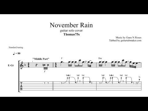 November Rain solo TAB - Thomas75s - electric guitar solo tabs (Guitar Pro)
