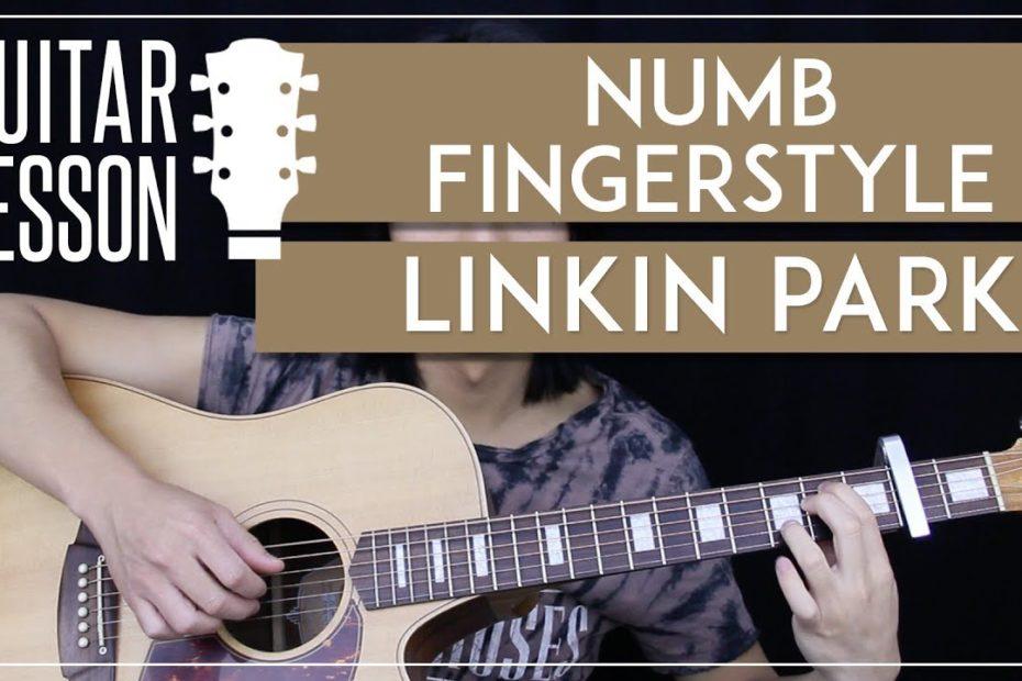 Numb Fingerstyle Guitar Tutorial - Linkin Park Picking Lesson  |Easy Fingerstyle Arrangement|