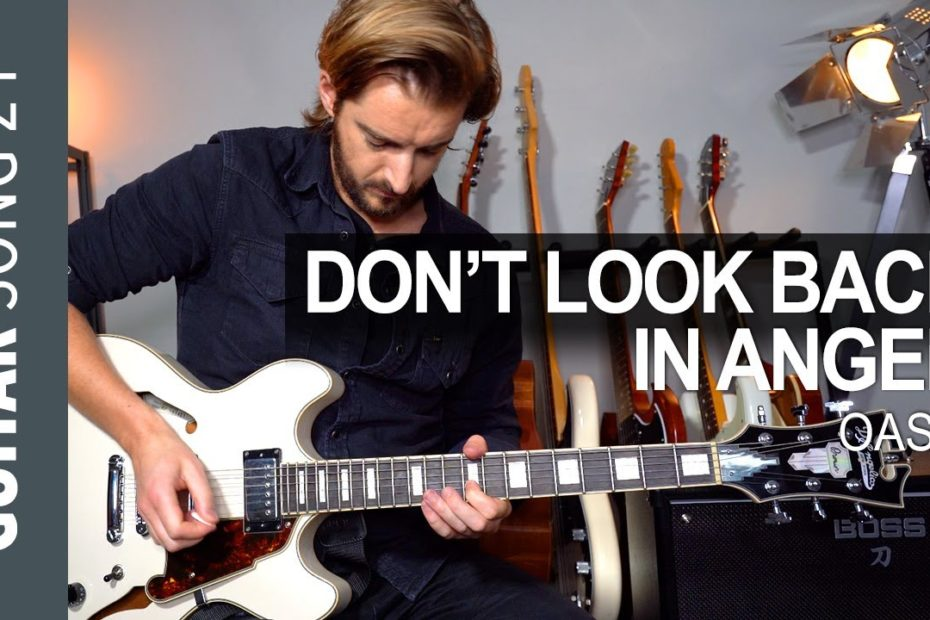 Oasis - 'Don't Look Back In Anger' Guitar Lesson Tutorial + SOLO & JAM TRACK!
