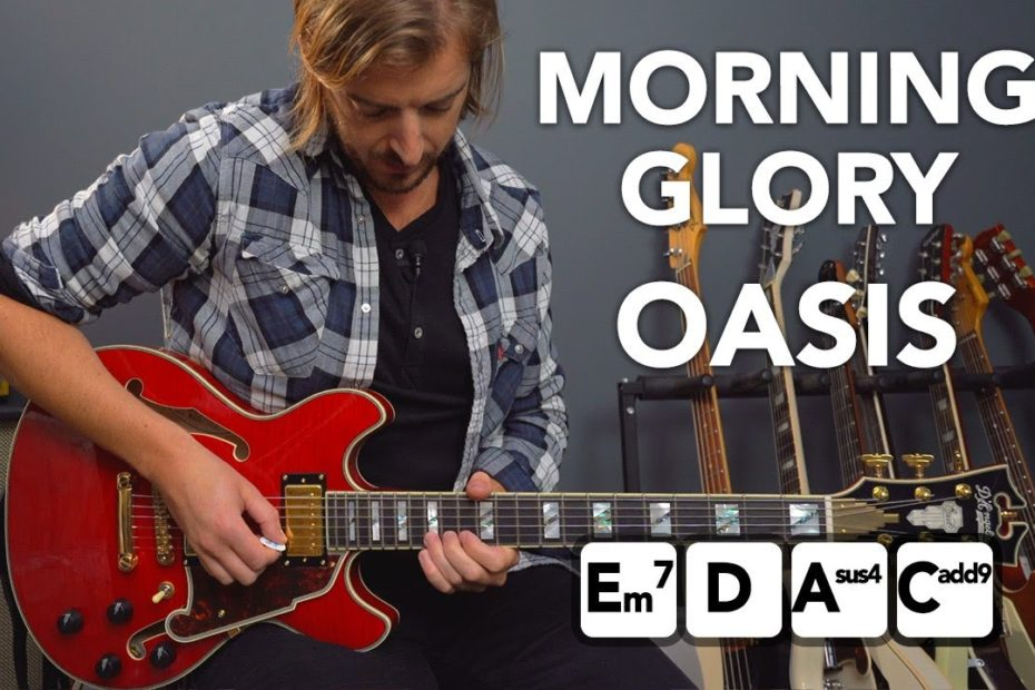 """Oasis """"Morning Glory"""" guitar lesson tutorial (EZ chords & lead parts)"""