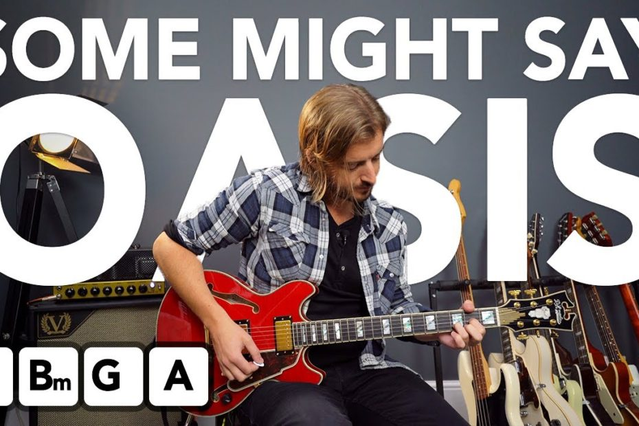 """Oasis """"Some Might Say"""" electric guitar lesson + tutorial"""
