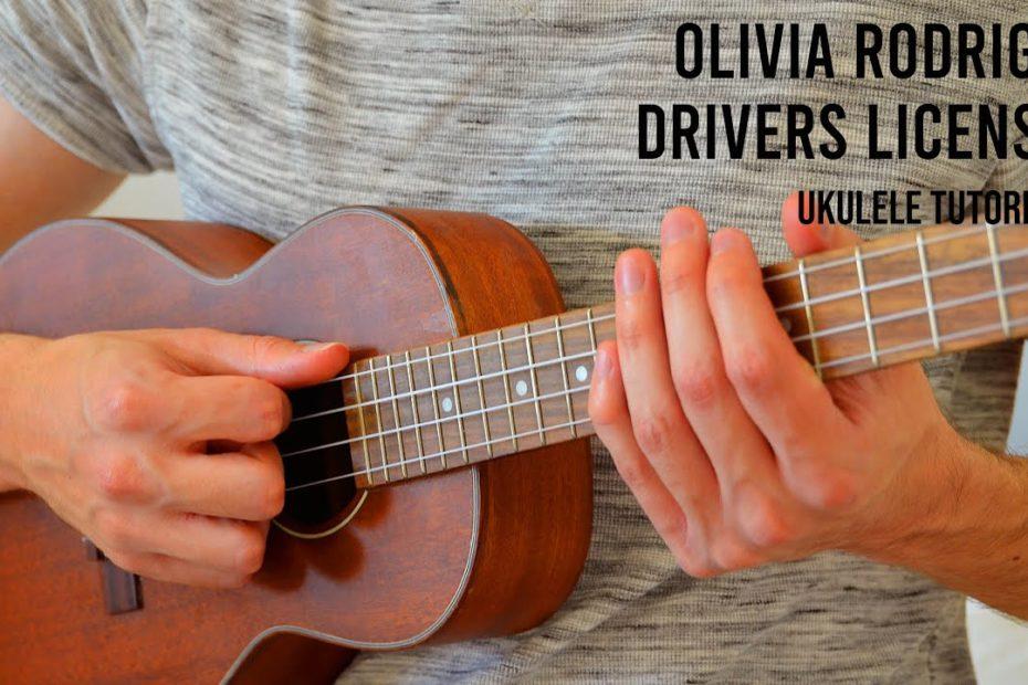 Olivia Rodrigo – Drivers License EASY Ukulele Tutorial With Chords / Lyrics