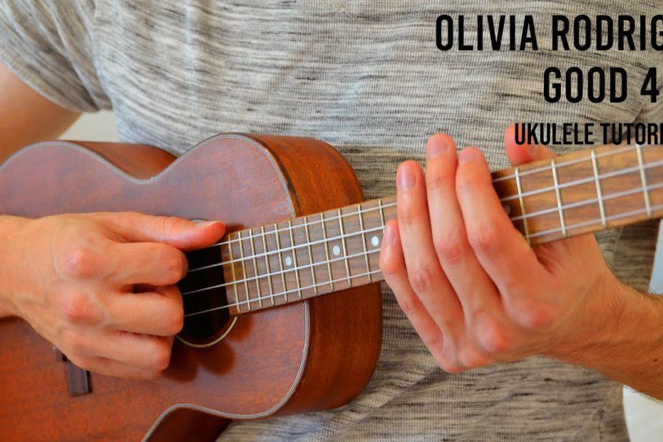 Olivia Rodrigo - good 4 u EASY Ukulele Tutorial With Chords / Lyrics