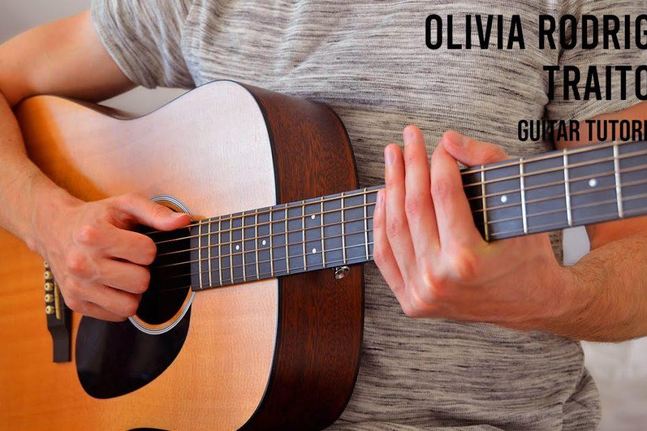 Olivia Rodrigo - traitor EASY Guitar Tutorial With Chords / Lyrics