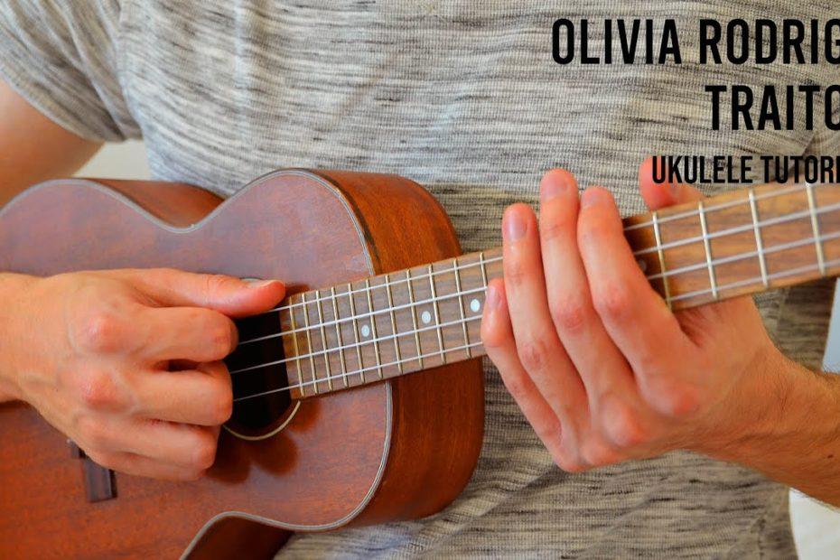 Olivia Rodrigo - traitor EASY Ukulele Tutorial With Chords / Lyrics