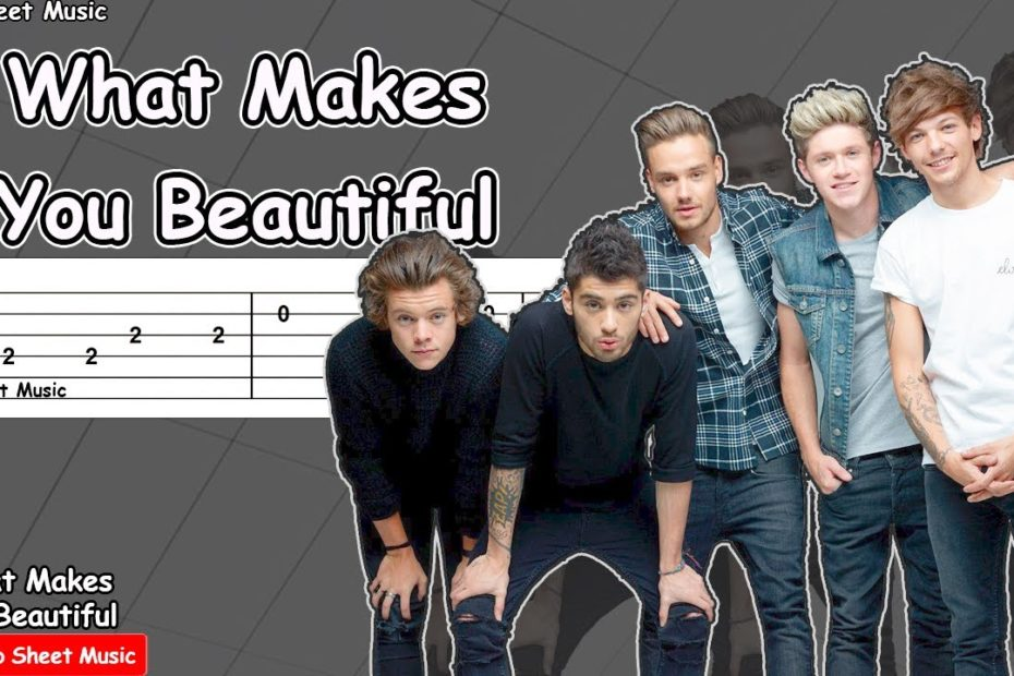 One Direction - What Makes You Beautiful Guitar Tutorial