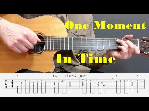 One Moment In Time - Whitney Houston - Fingerstyle guitar with tabs