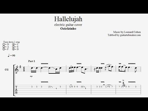 Ozielzinho - Hallelujah TAB - electric guitar tab (PDF + Guitar Pro)