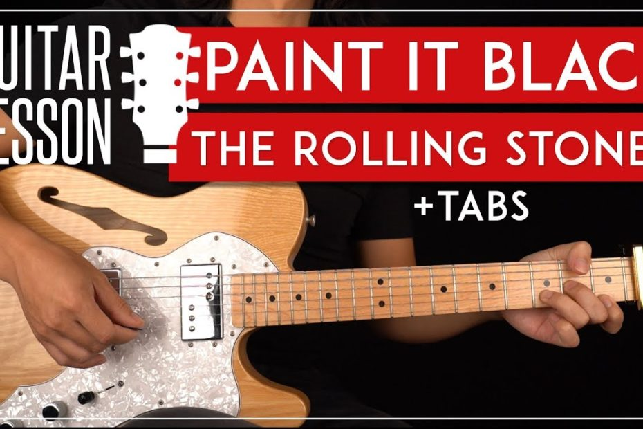Paint It Black Guitar Tutorial  The Rolling Stones Guitar Lesson |Riff + Chords + TAB|