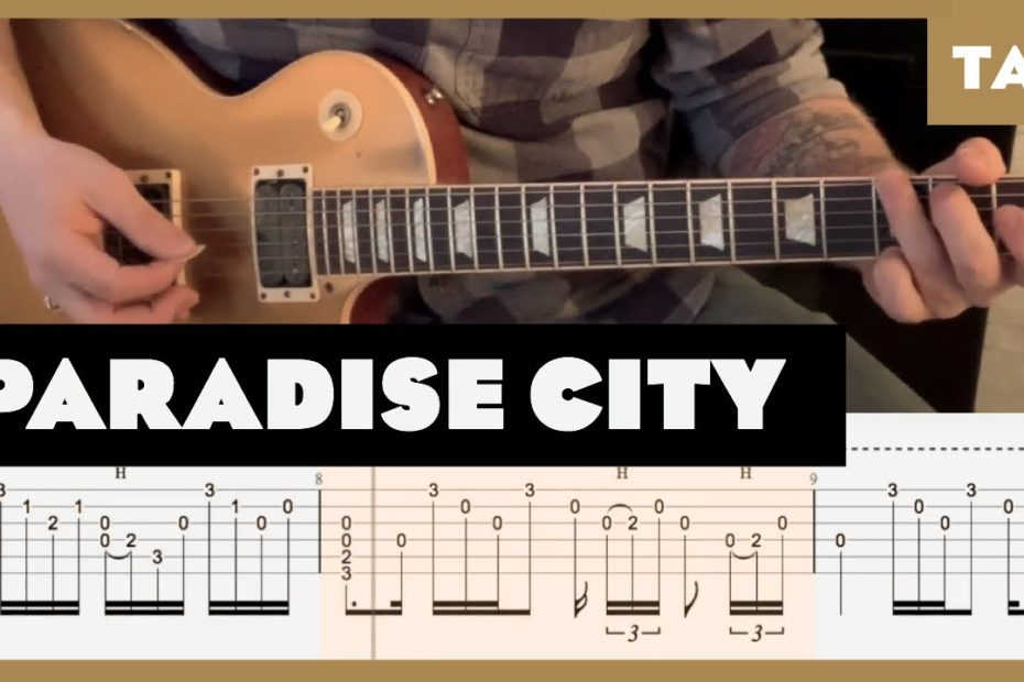 Paradise City Guns N' Roses Cover | Guitar Tab | Lesson | Tutorial