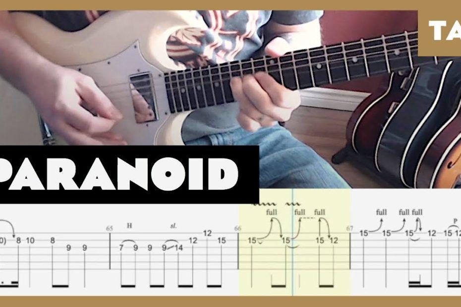 Paranoid Black Sabbath Cover | Guitar Tab | Lesson | Tutorial