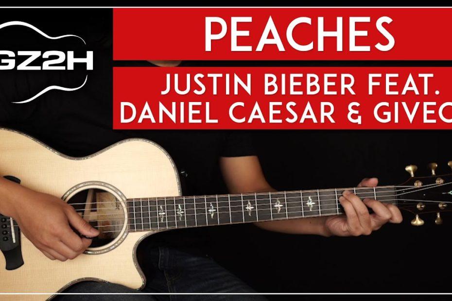 Peaches Guitar Tutorial Justin Bieber Guitar Lesson  |No Capo + Easy Chords|