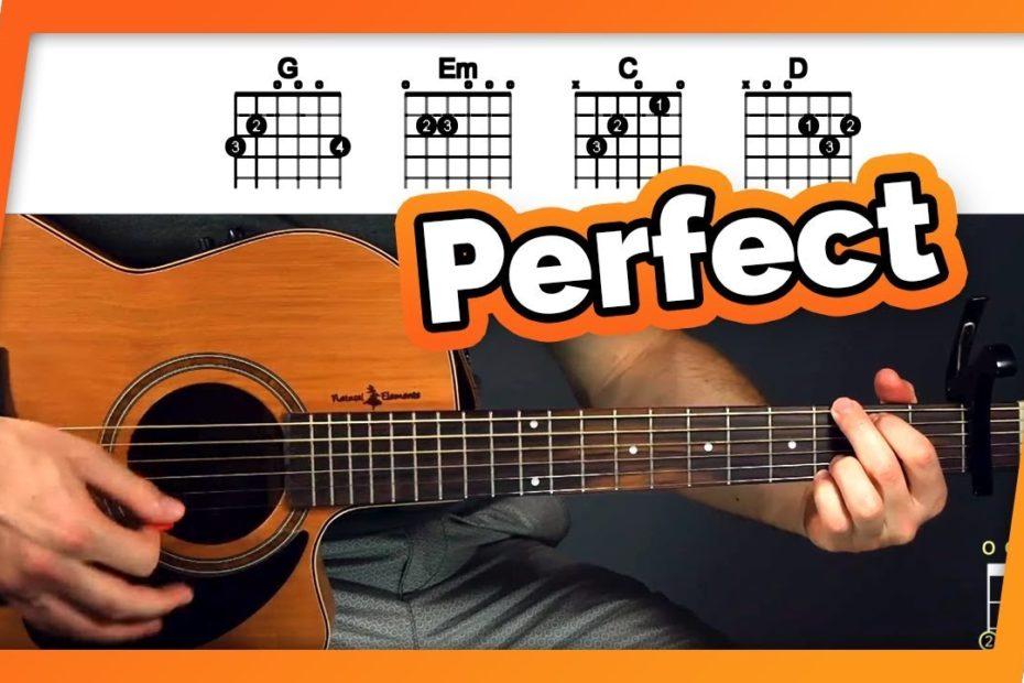 Perfect - Ed Sheeran - Fingerpicking Guitar Tutorial (Lesson)
