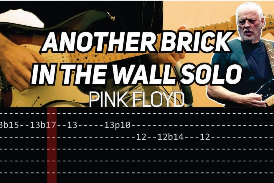 Pink Floyd - Another Brick In The Wall solo (Guitar lesson with TAB)