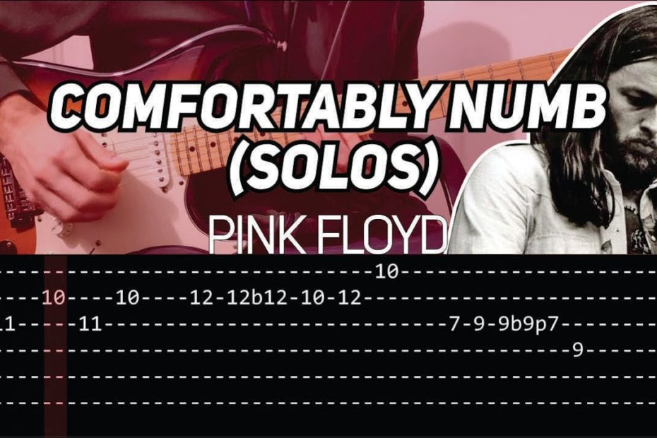 Pink Floyd - Comfortably Numb solo (Guitar lesson with TAB)