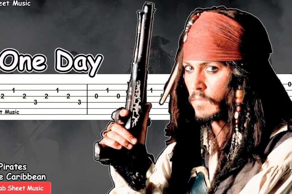 Pirates of the Caribbean - One Day Guitar Tutorial
