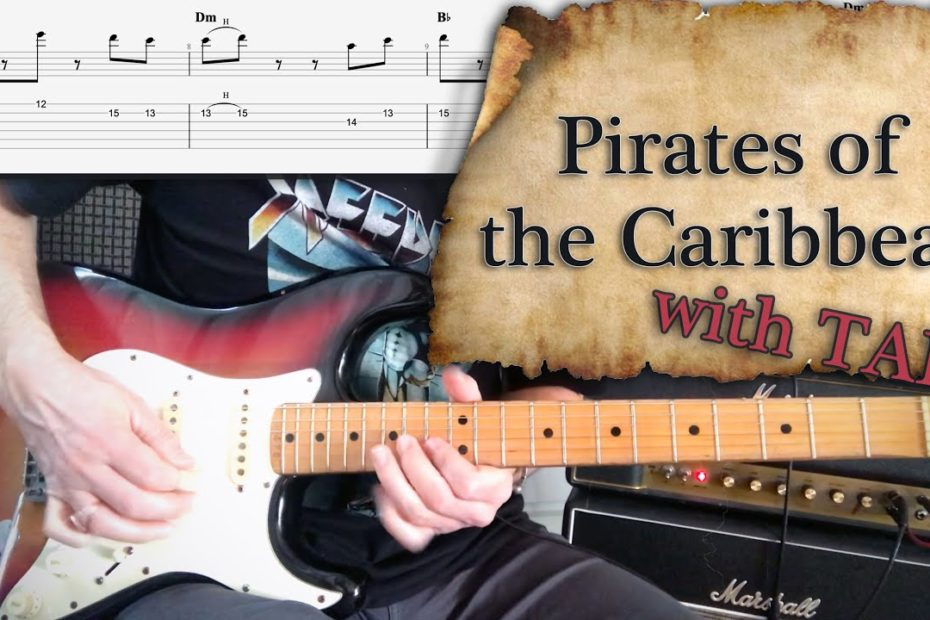 Pirates of the Caribbean - Rock Cover   Guitar Tab   Tutorial   Lesson