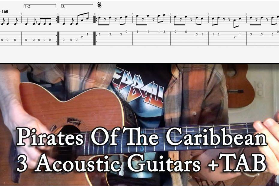 Pirates Of The Caribbean Theme : 3 Acoustic Guitars Arrangement + TAB