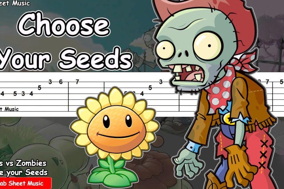 Plants vs Zombies - Choose Your Seeds Guitar Tutorial