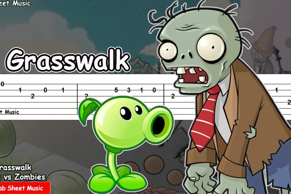 Plants vs Zombies - Grasswalk Guitar Tutorial | TAB