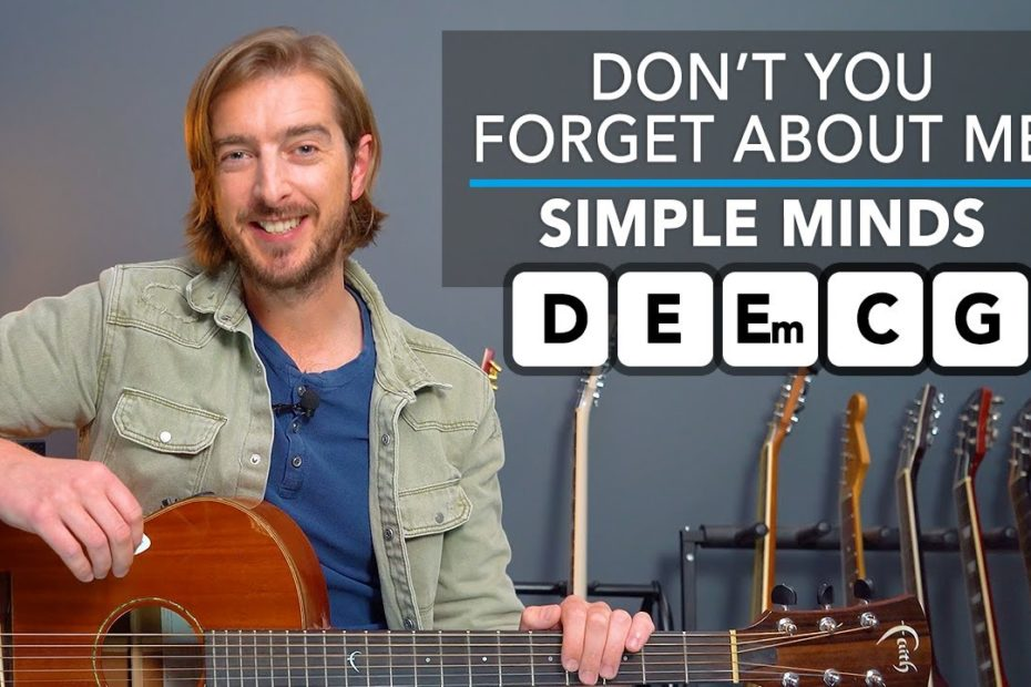 Play 'Don't You Forget About Me' on Guitar with Simple Chords (Simple Minds)