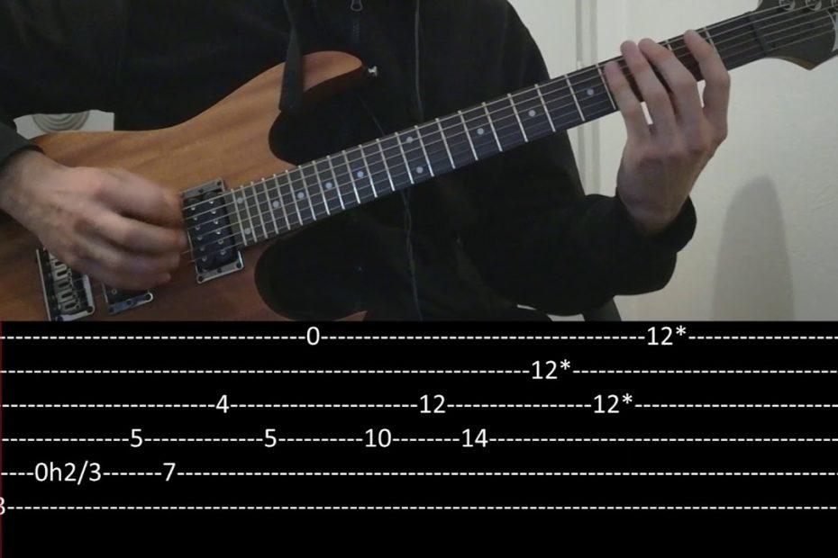 Polyphia - The Worst riff (slow + Play along Tab)