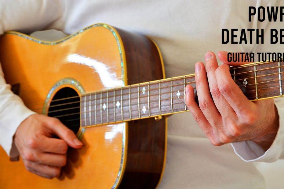 Powfu – death bed EASY Guitar Tutorial With Chords / Lyrics