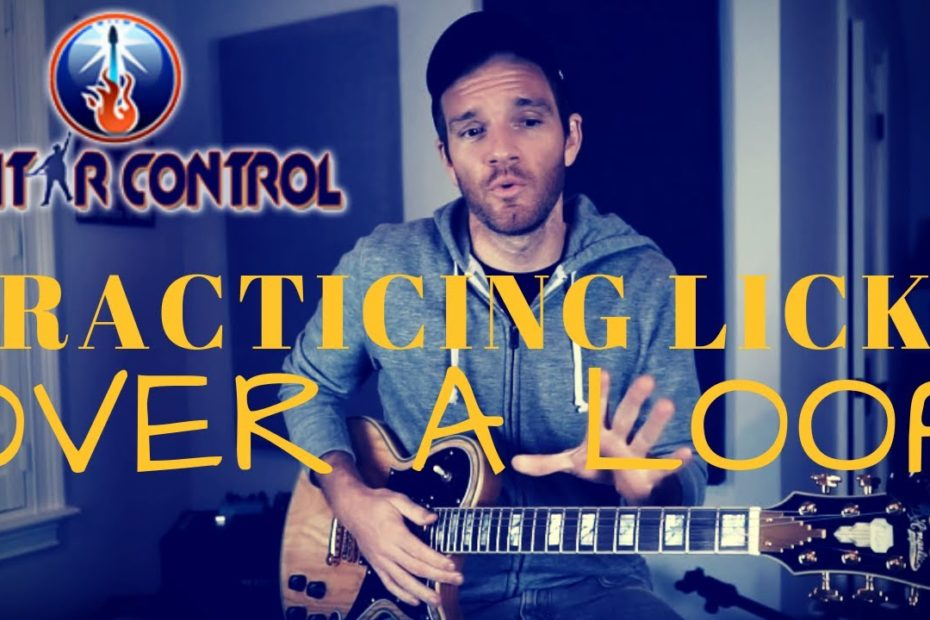 Practicing Licks Over a Loop Pedal - Guitar Lesson On Easy Pentatonic Scale Licks