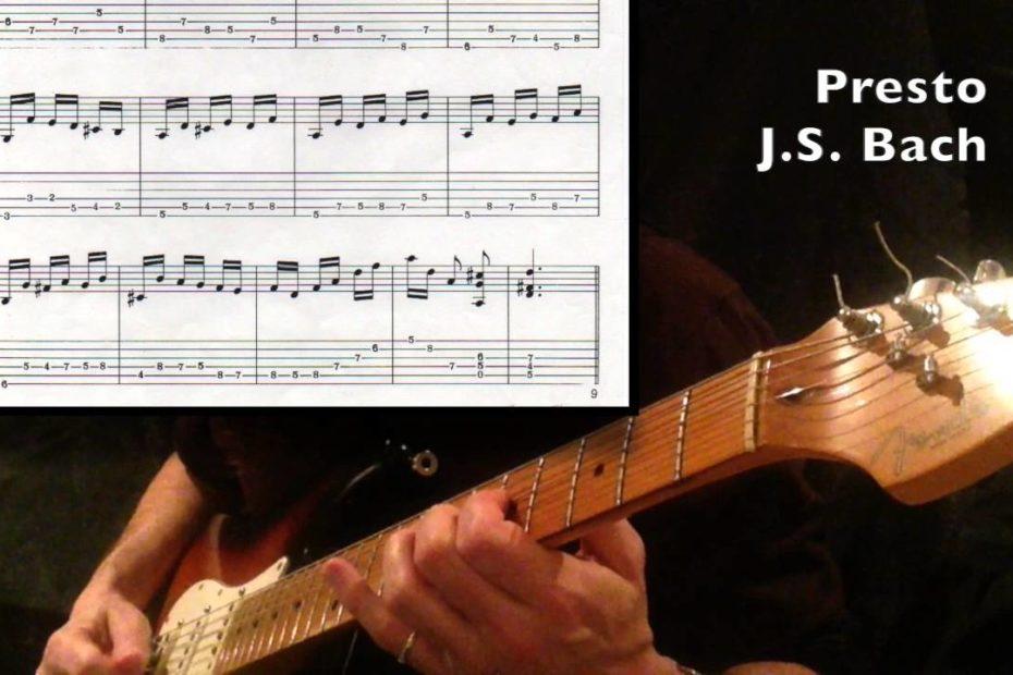 Presto - J.S. Bach (Guitar cover + tab)