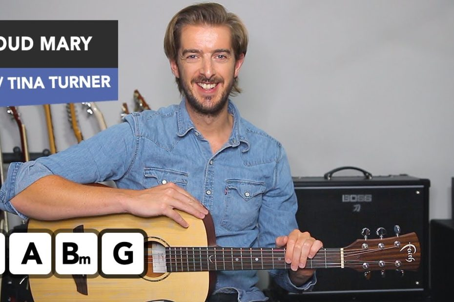 Proud Mary Guitar Lesson Tutorial Tina Turner/ CCR - Easy guitar songs Andy Guitar