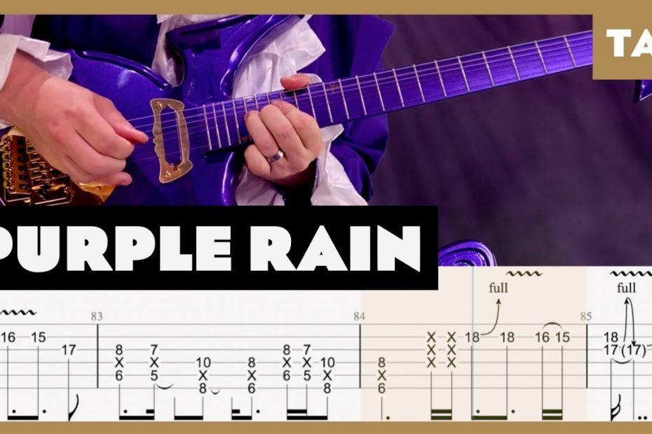 Purple Rain Prince Cover | Guitar Tab | Lesson | Tutorial