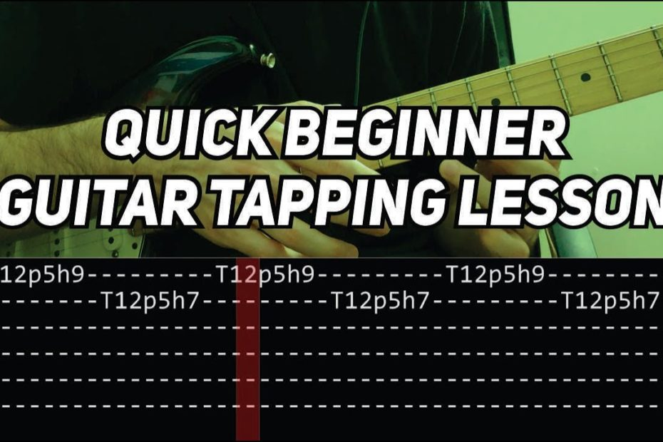 Quick Beginner Guitar Tapping Lesson | First 5 Levels of Guitar Tapping