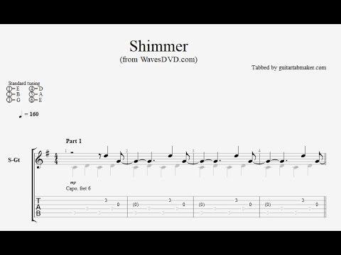 Relaxing Guitar TAB - Shimmer - acoustic fingerpicking guitar tab (PDF + Guitar Pro)