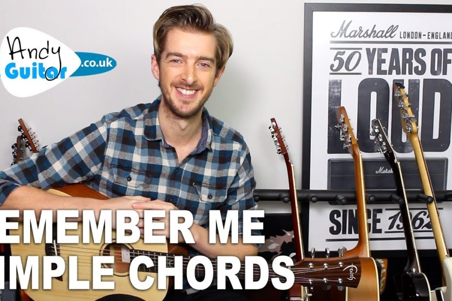 """Remember Me (From """"Coco"""") Simple Guitar Lesson - Easy Chords (Lullaby)"""