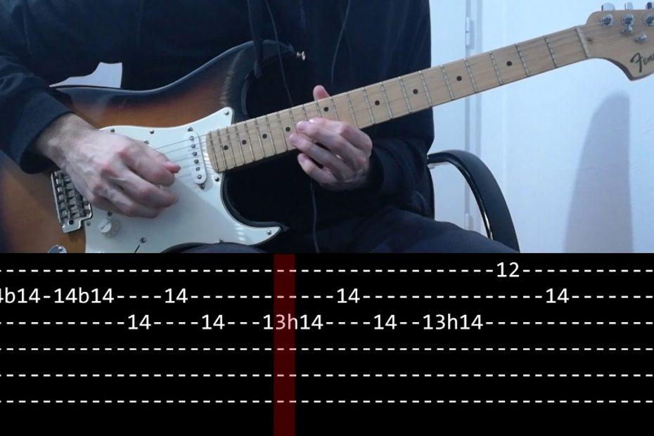 RHCP - Californication solo Live at Slane Castle (slow + Play Along Tab)