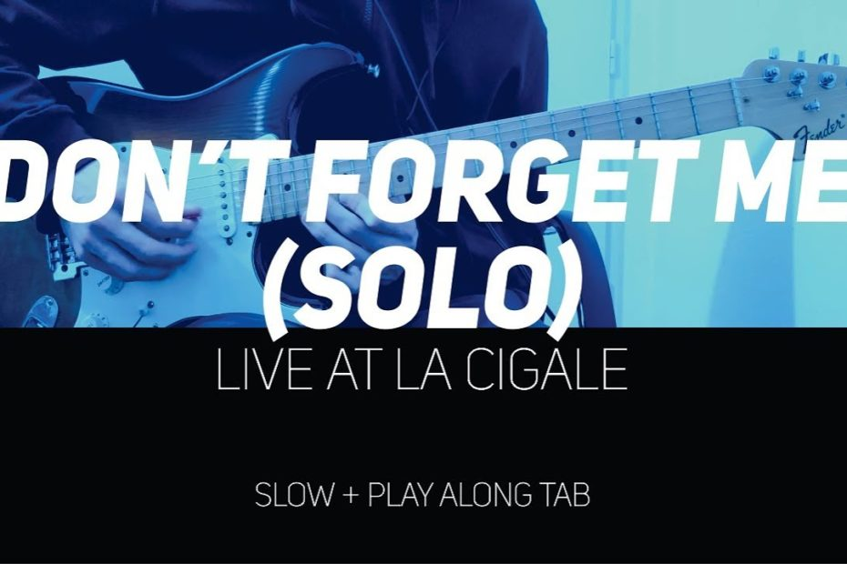 RHCP - Don't Forget Me solo Live at La Cigale (slow + Play Along Tab)
