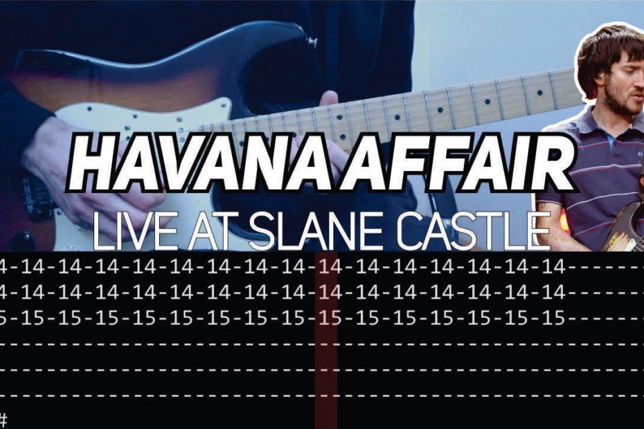 RHCP - Havana Affair (Guitar lesson with TAB)