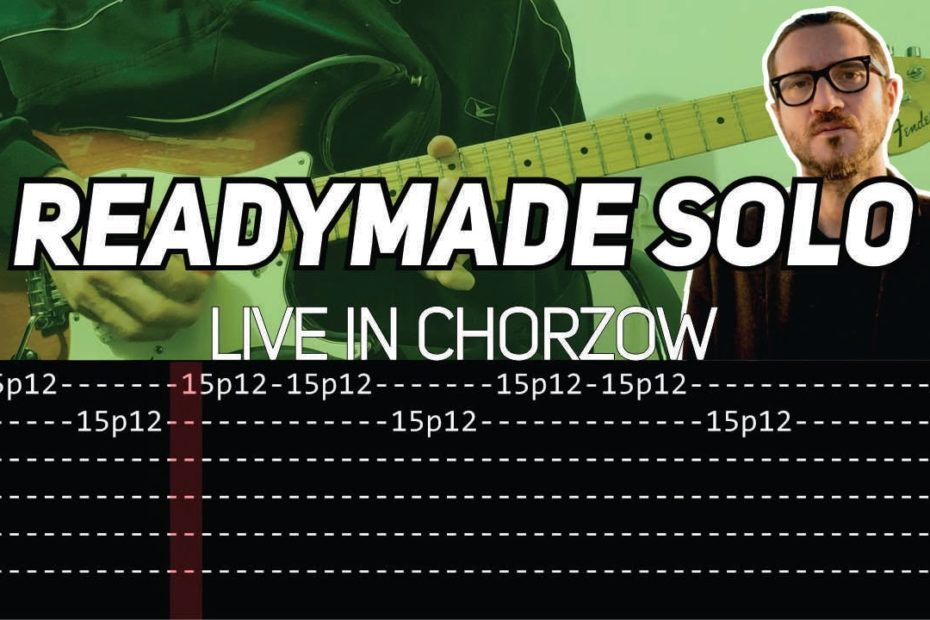 RHCP - Readymade solo Live in Chorzow (Guitar lesson with TAB)